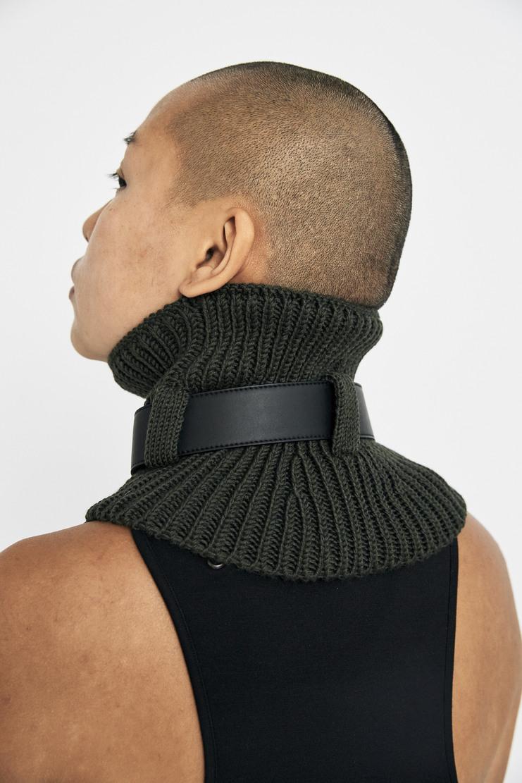 ALYX Green Neck Warmer wool leather ring scarf snood a/w 17 aw17 alix aleeks