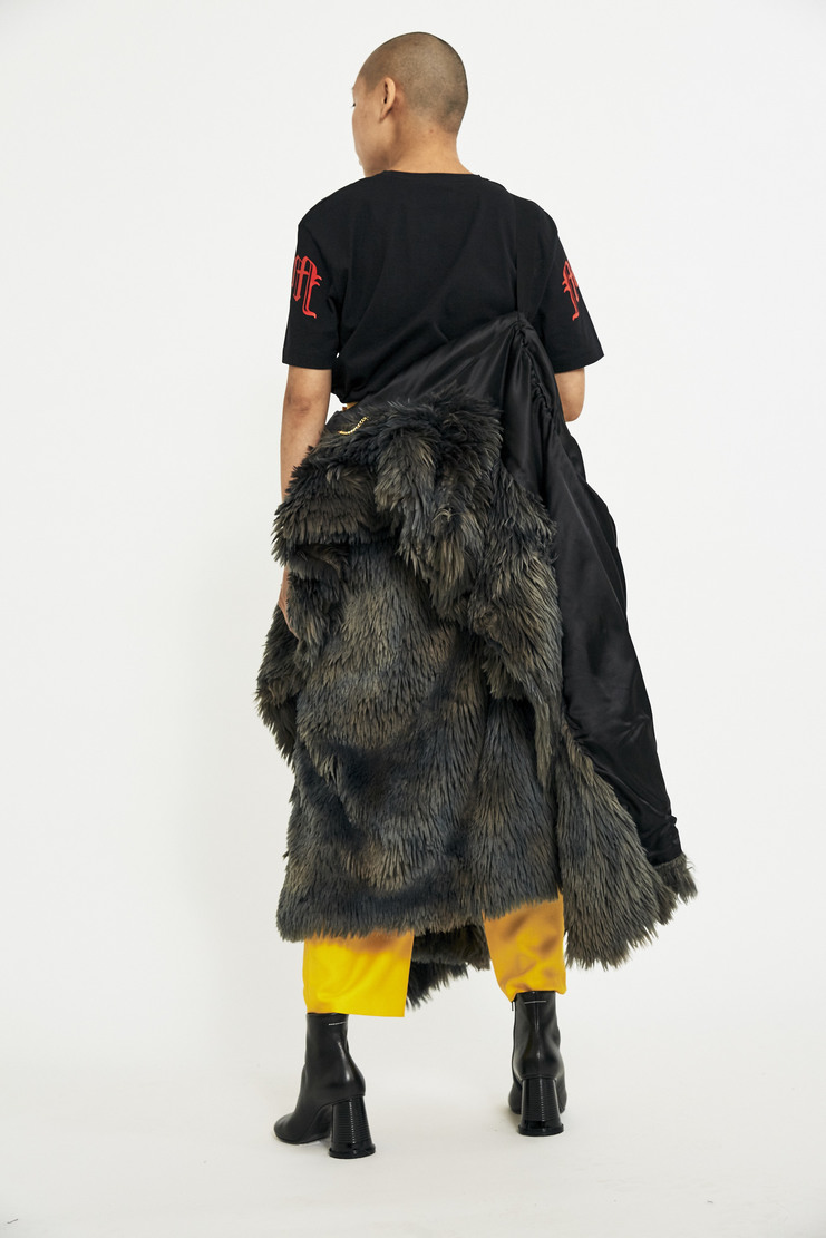MM6 Fake Fur Coat AW17 A/W17 Faux Maison Margiela MM Jacket Acrylic Grey