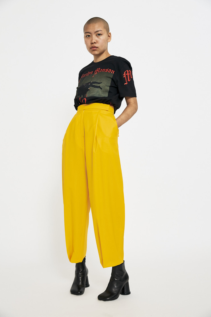 Marta Jakubowski Tailored Trouser AW17 A/W17 Martha Jakobowski Pants Yellow	v