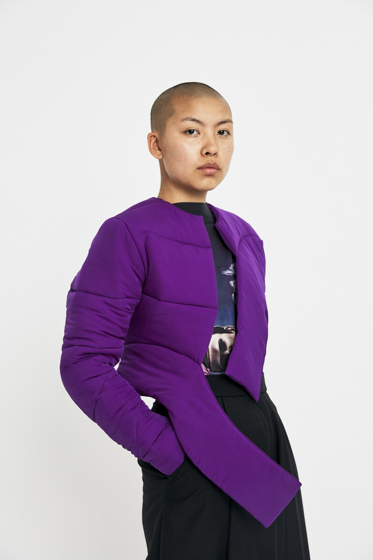Marta Jakubowski Purple Short Puffer Jacket AW17 A/W17 Martha Jacobowksi Puffa Coat