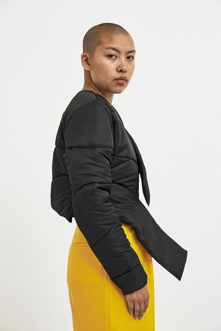 Marta Jakubowski Black Short Puffer Jacket AW17 A/W17 Martha Jacobowksi Puffa Coat