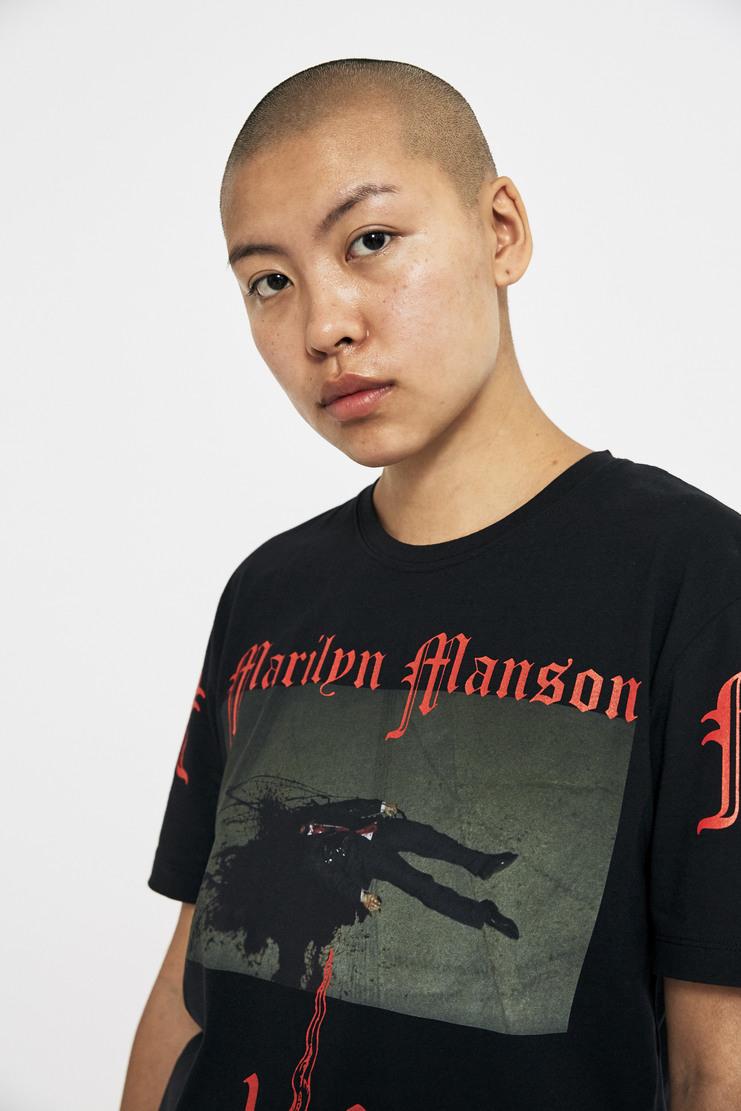 Dilara Findikoglu Black Marilyn Manson T-Shirt AW17 A/W17 Delara Findi Koglu Findikogloo