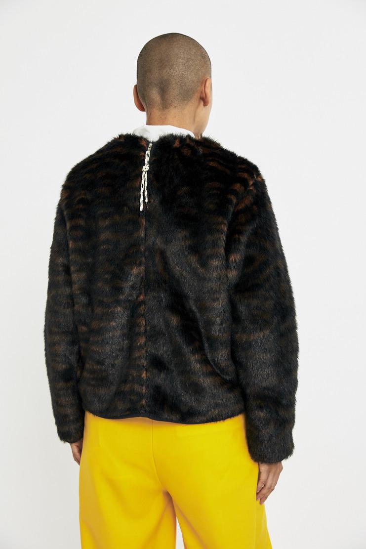 ARIES Furry Tiger Jumper AW17 A/W17 Arise Areies Sweater Sweatshirt Stripes Striped Stripe Textured Black Orange
