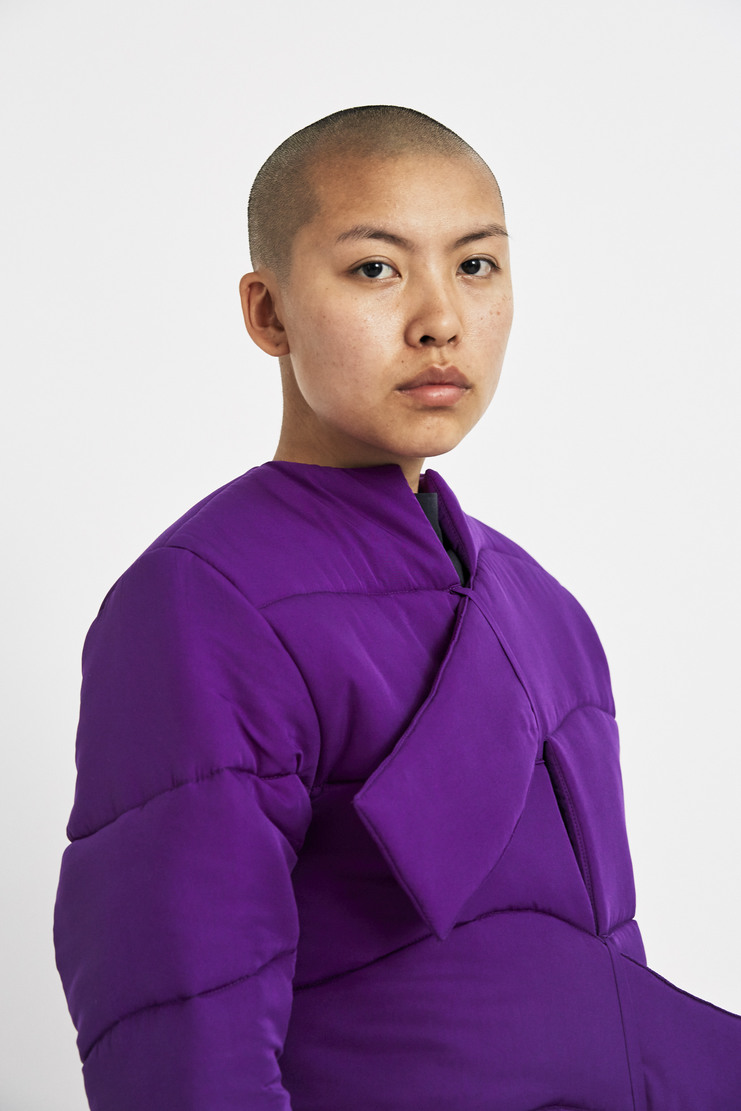 Marta Jakubowski Purple Puffer Jacket AW17 A/W17 Puffa Coat Martha Jacobowski