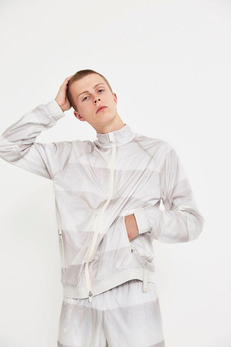 reebok x cottweiler, cottweiler, reebok, collaboration, chalk, cream, sportswear, track jacket, jacket, aw17, lfw, fashion