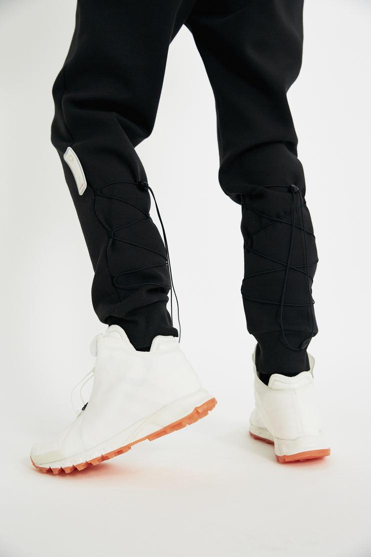 COTTWEILER x Reebok Black Sweatpants lace up elastic trackpants trousers sweat pant jogger joggers track pants cotweiler white pants aw17