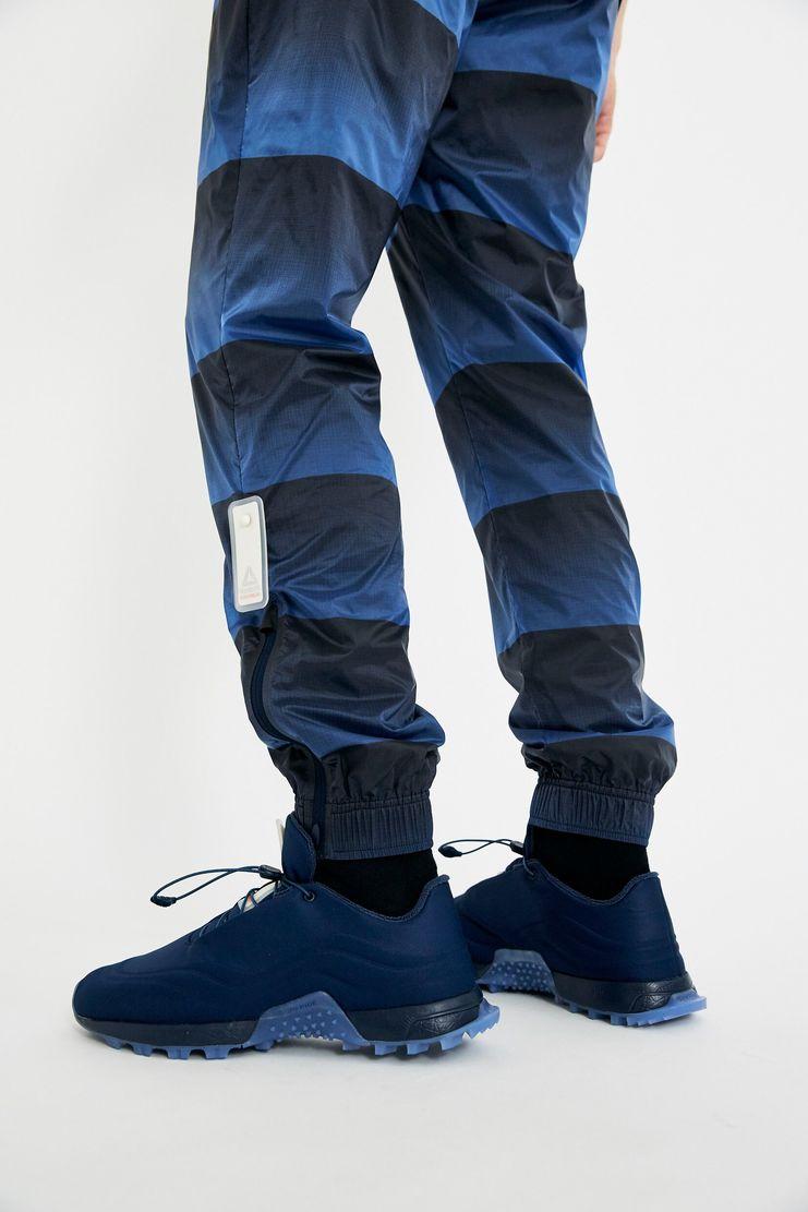reebok x cottweiler, cottweiler, reebok, collaboration, navy, sportswear, track pants, pants, aw17, lfw, fashion, blue