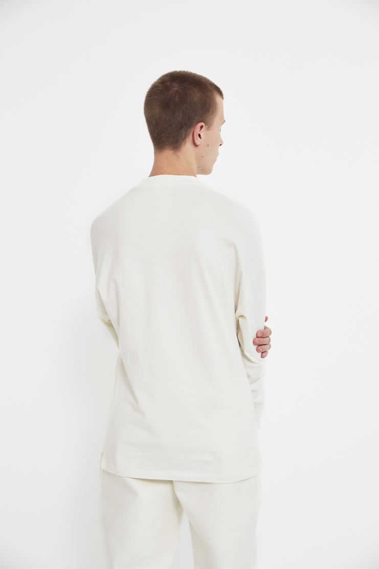 COTTWEILER x Reebok Long Sleeve Mock Spa T-Shirt tee sweater crew neck cotton lfw aw 17 jumper white cream