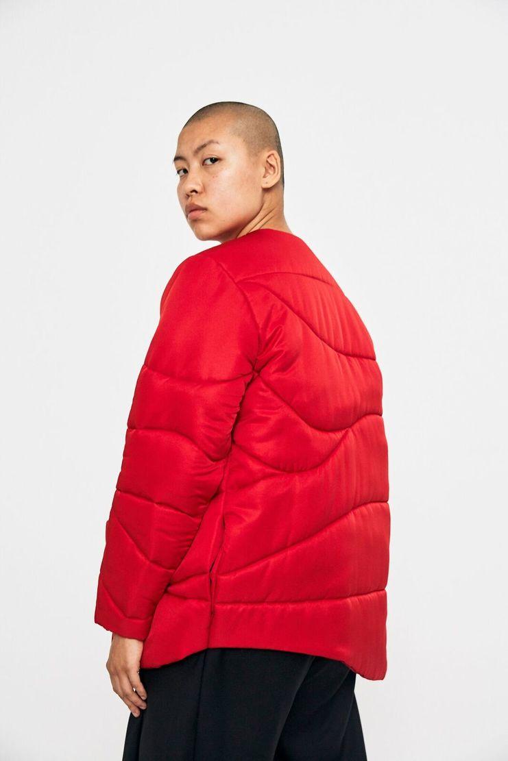 Marta Jakubowski Red Puffer Jacket AW17 A/W17 Puffa Coat Martha Jacobowski