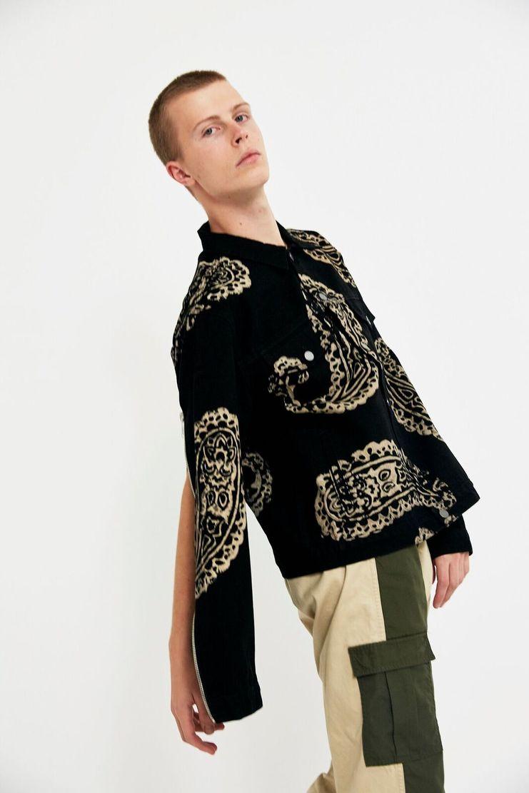 424, Denim, Trucker Jacket, Coat, LFW, AW17, Black, White, Monochrome, Men's Fashion, Fashion Week