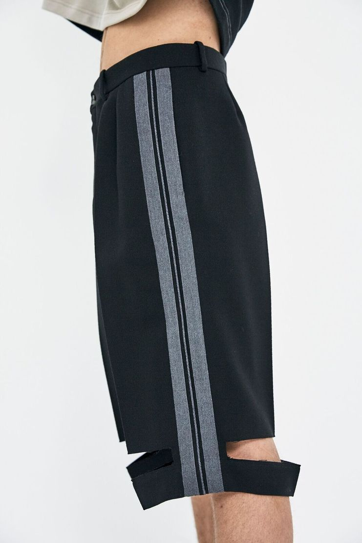 Maison Margiela Black Wool Tricotine Shorts AW17 A/W 17 A/W17 Margeila MMM Grey PFW France French