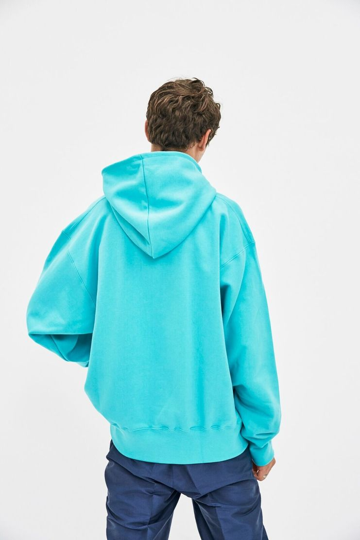 Resort Corps, Empathy, Hoodie, Hooded Sweatshirt, Sleeve, Embroidered, Turquoise, New Arrivals, AW17