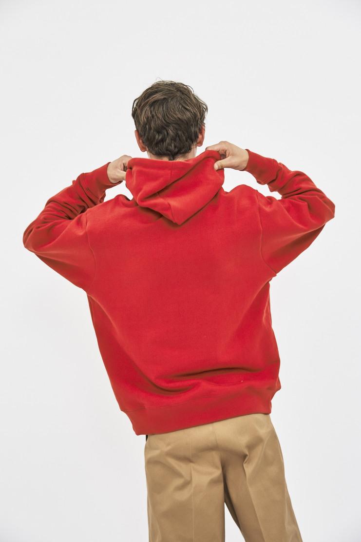 424 Alias Hoodie red cotton hood sweatshirt sweater jumper fourtwofour aw17 la california skatewear 17