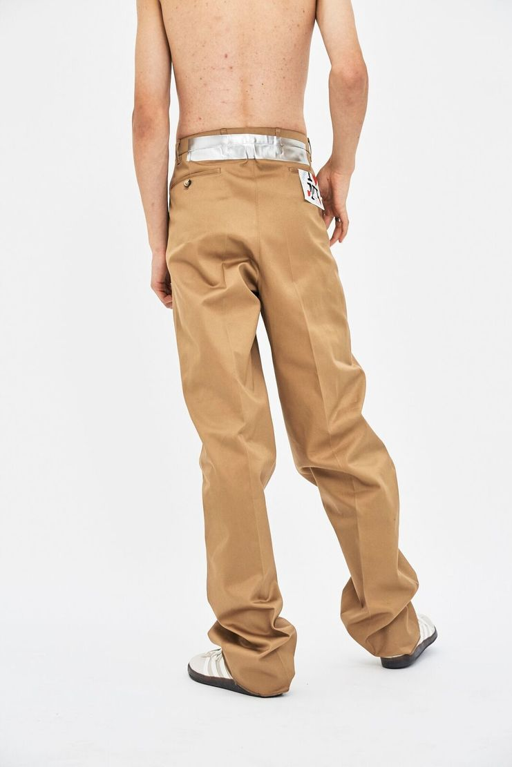 Raf Simons Taped Chinos Beige Camel Trousers AW17 A/W 17 Menswear Tape Cotton Oversized Over-Sized New York Paris