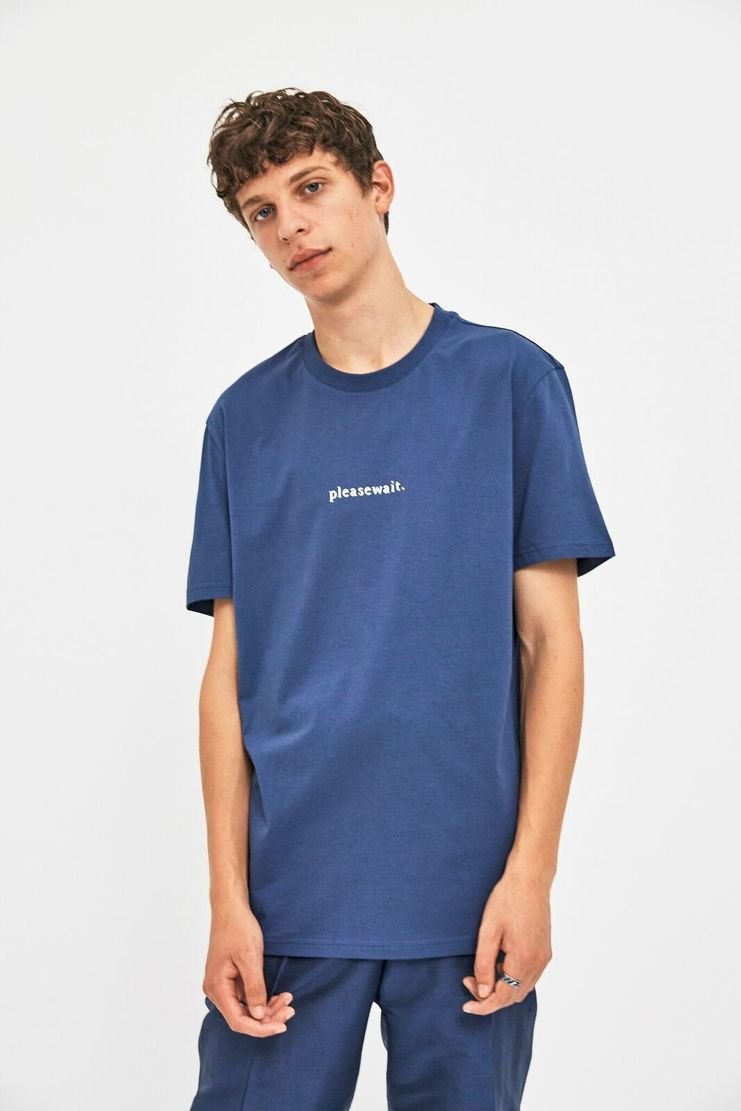 Futur Blue pleasewait T-shirt print streetwear Norway Norwegian AW 17 A/W 17 Menswear Fashion