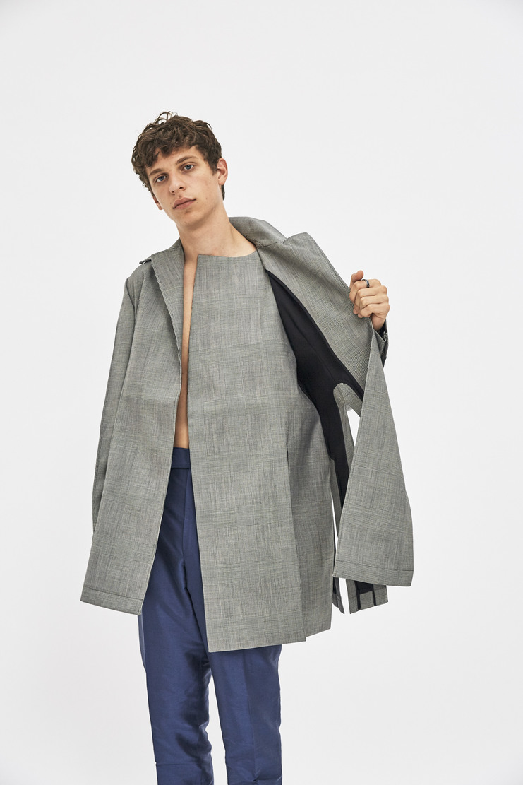 Ximon Lee Bonded Glencheck Blazer AW17 FW17 grey check coat jacket simon lee