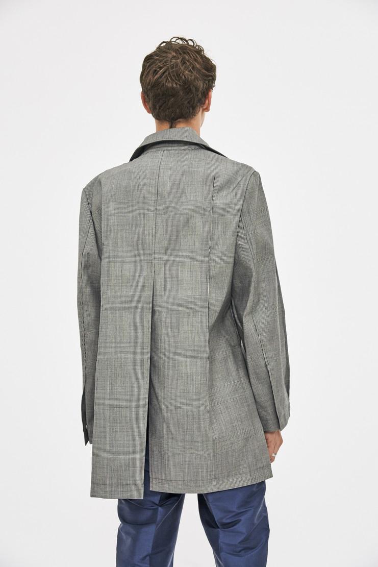 Ximon Lee Bonded Glencheck Blazer AW17 FW17 grey check coat jacket simon lee