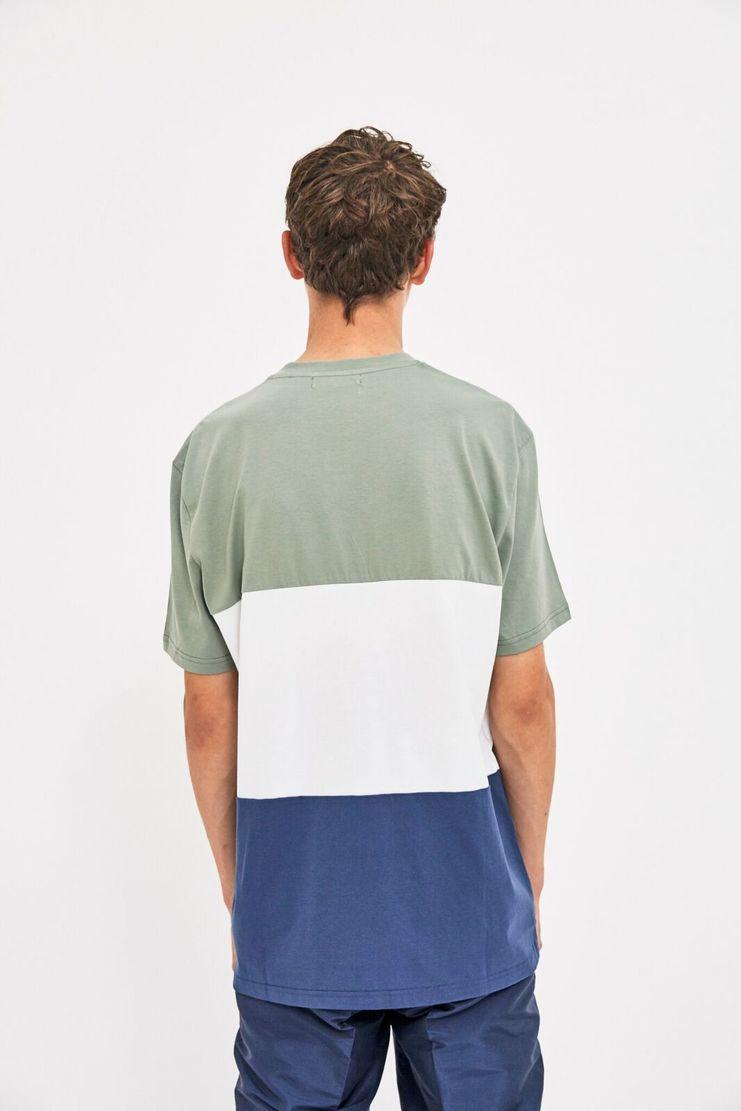 Futur Blocked T-shirt AW17 A/W 17 Green Blue White Top Tee Colour Block Streetwear Street Style