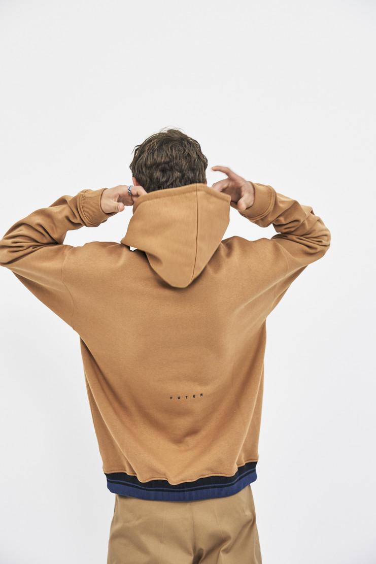 Futur G Fit Hoodie hoody jumper with hood camel beige aw17 fw17