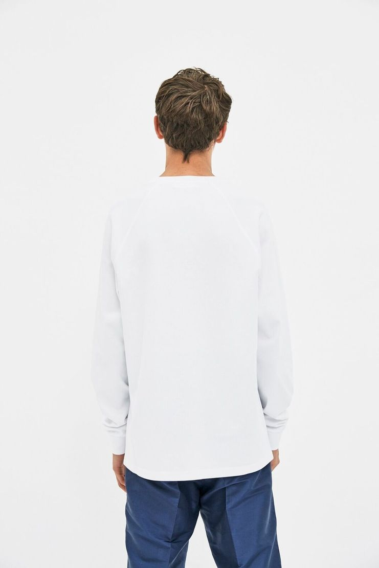 Futur White Raglan Long Sleeve T-shirt Top Streetwear Street Style AW17 FW17 F/W17 A/W 17