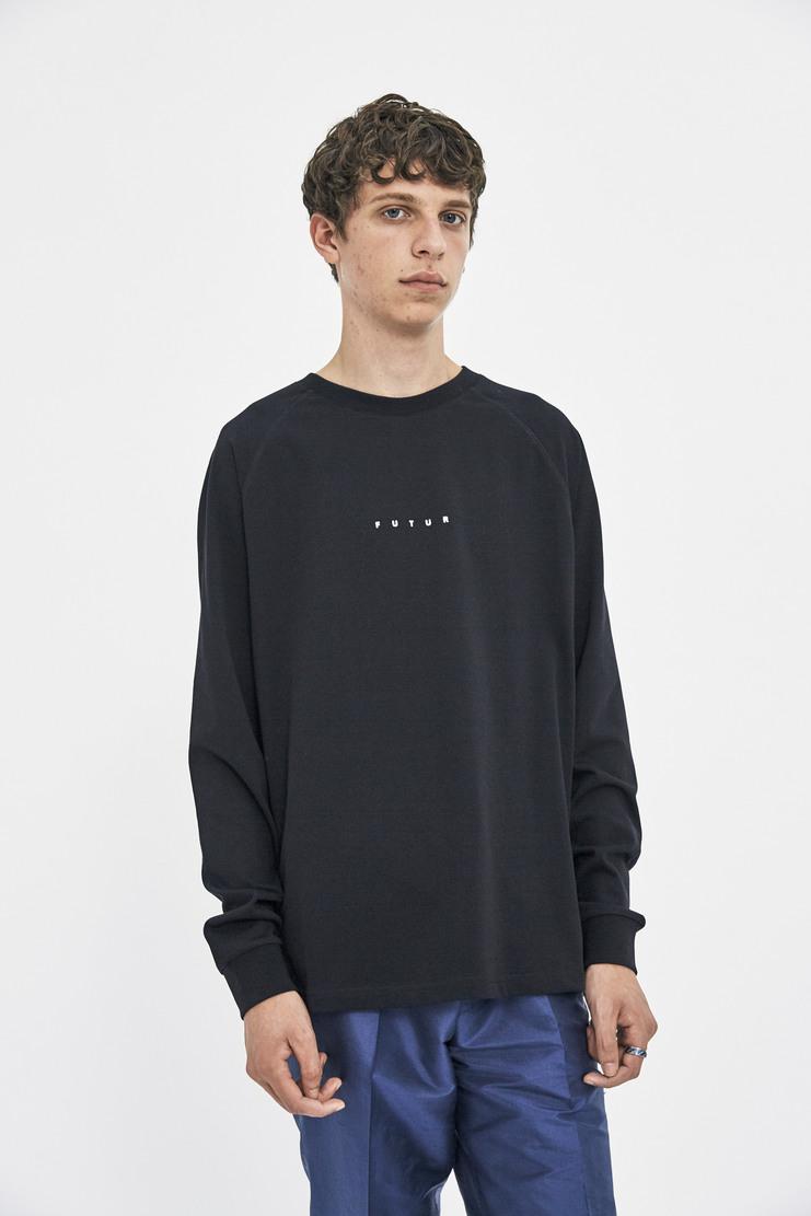Futur White Raglan Long Sleeve T-shirt Top Streetwear Street Style AW17 FW17 F/W17 A/W 17 black cotton sweater