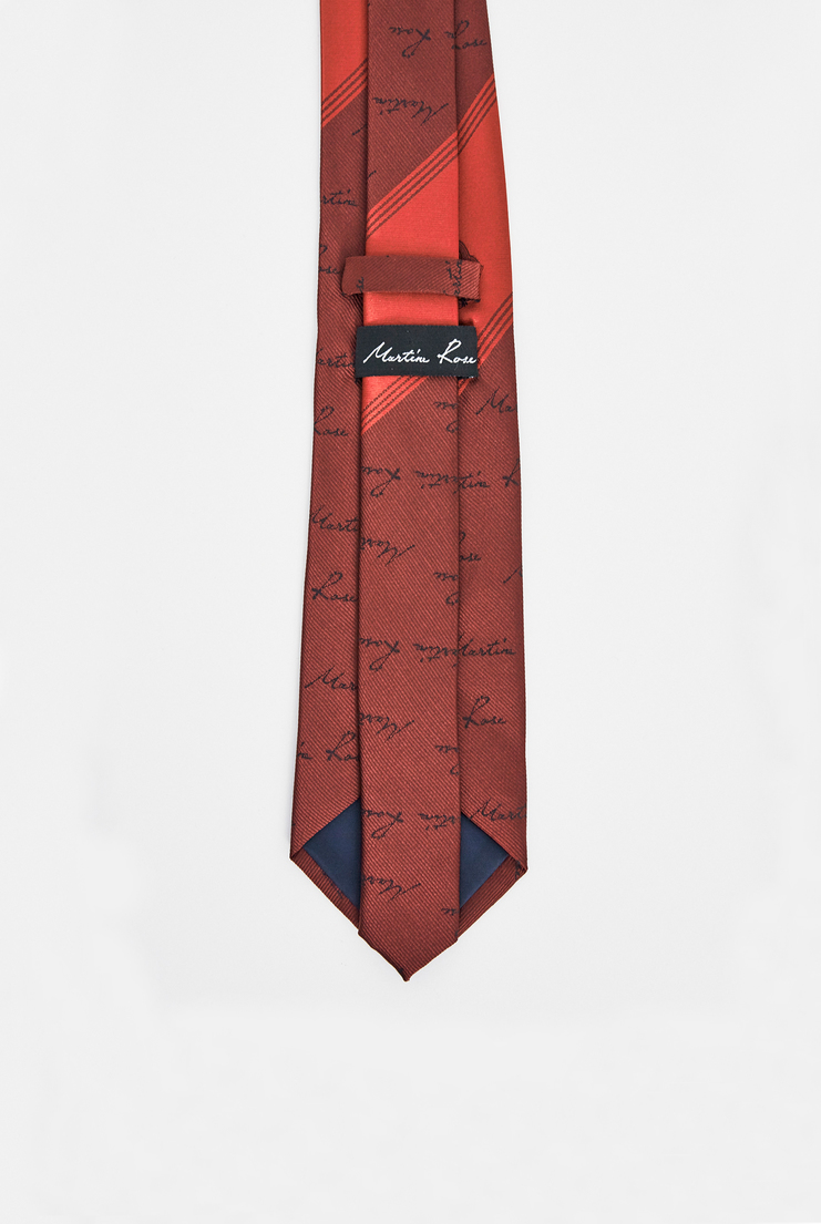 Martine Rose Rose Tie silk academy school work stripe woven unisex mens women aw17 fw17 london red