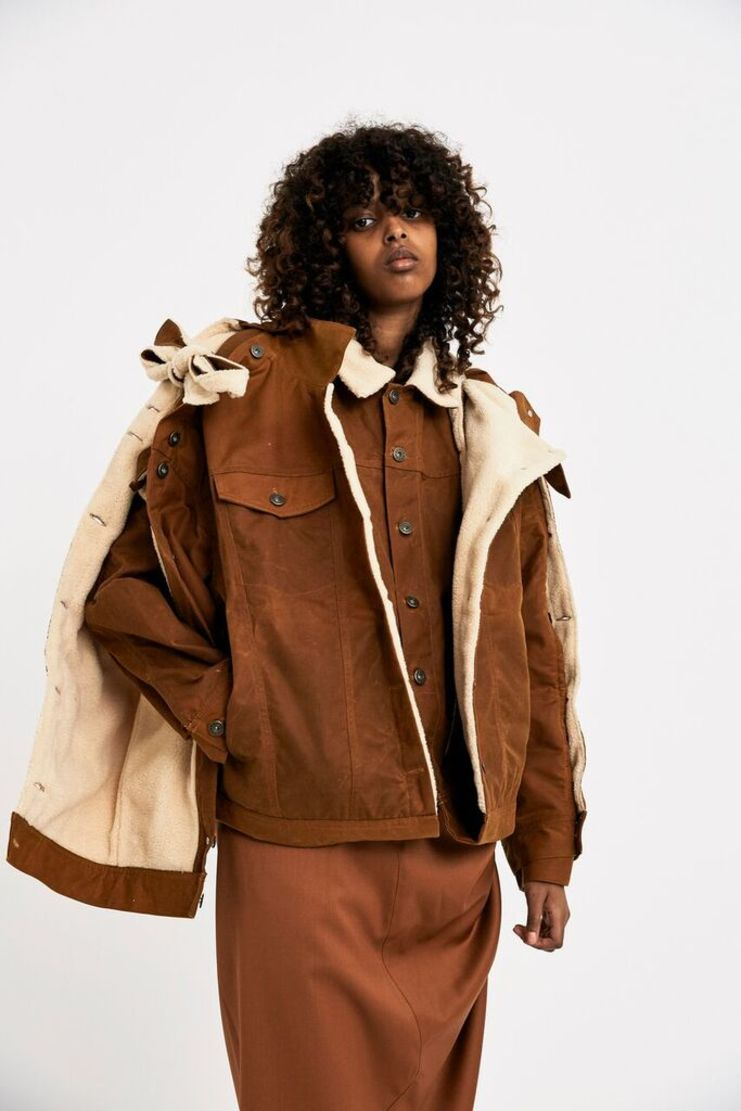 Y / Project Yellow Blouson AW17 FW17 F/W 17 A/W 17 Waxed Cotton Wool Coat Jacket Cropped Short Asymmetric
