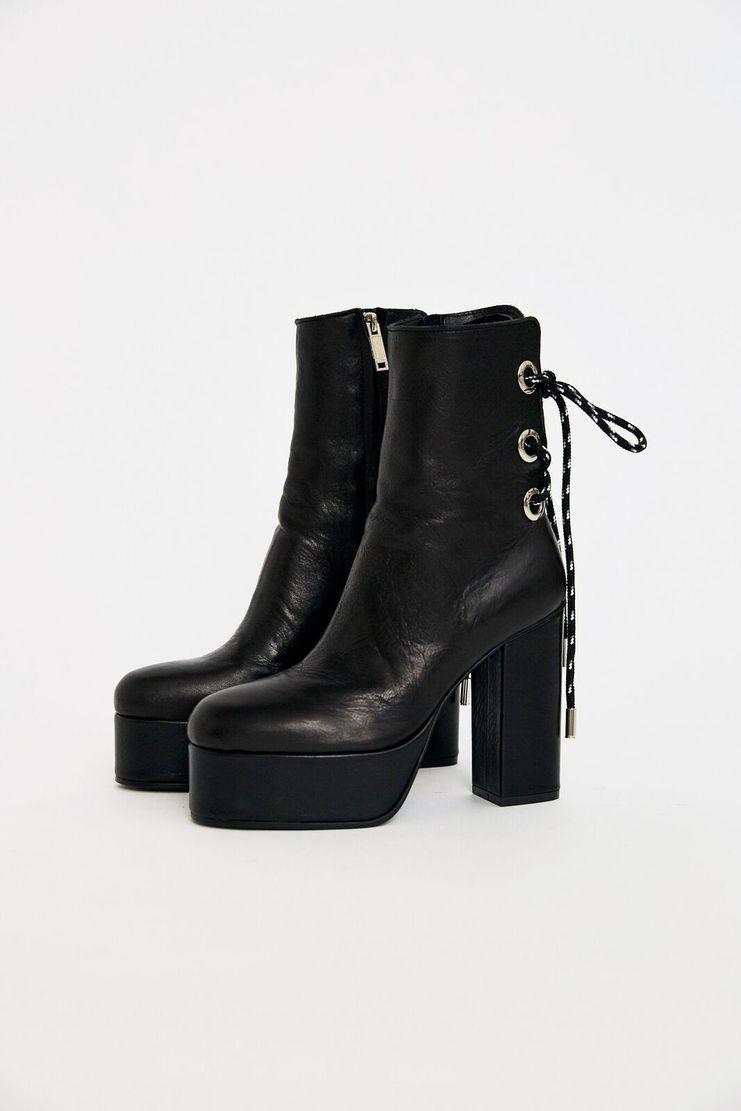 Christian Dada Boots Dior AW17 Masanori Morikawa Platform Black Laces Metallic A/W17 FW17 F/W 17 Lace-up Back
