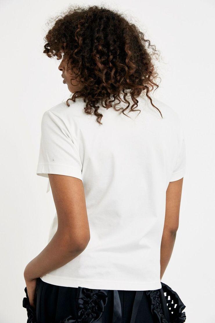 Noir Kei Ninomiya White Ladies Tee T-Shirt A/W 17 AW17 F/W17 FW17 Ribbon Crew-neck