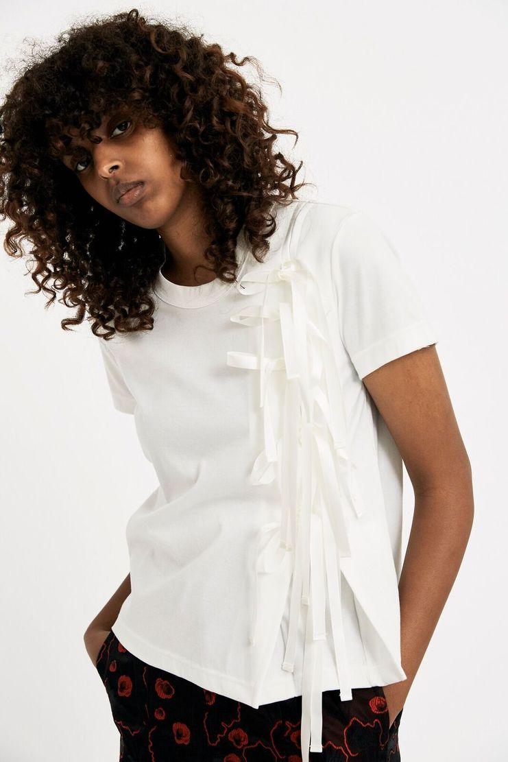 Noir Kei Ninomiya White Ribbon Top Tee T-Shirt A/W 17 AW17 F/W 17 FW17