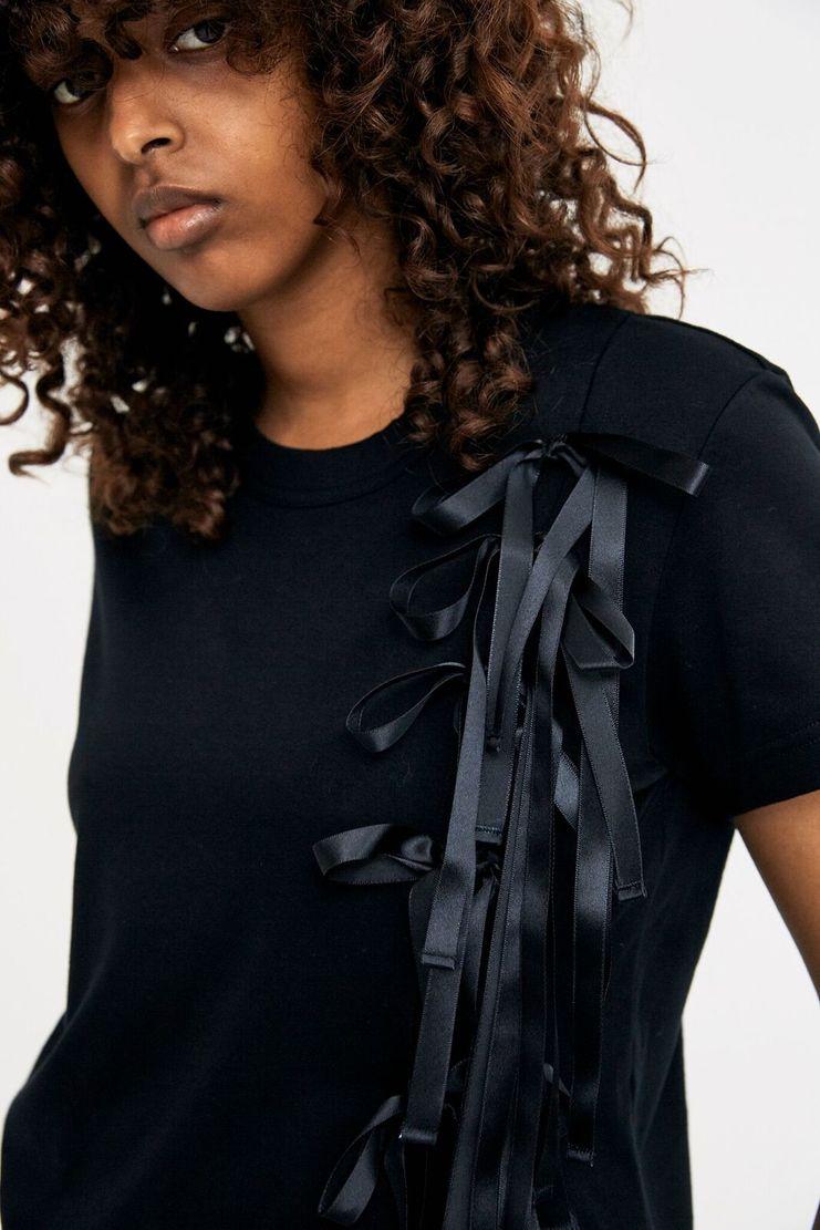 Noir Kei Ninomiya Black Ribbon Top Tee T-Shirt A/W 17 AW17 F/W 17 FW17