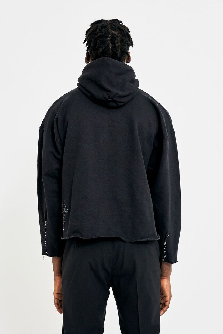 Heikki Salonen Cropped Arrow Hoodie  AW17 FW17 AW/ 17 FW/ 17 streetwear outerwear jumper