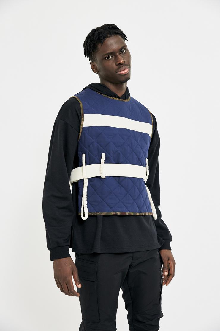 Craig Green Navy Vest AW17 FW17 A/W 17 F/W 17 blue top streetwear