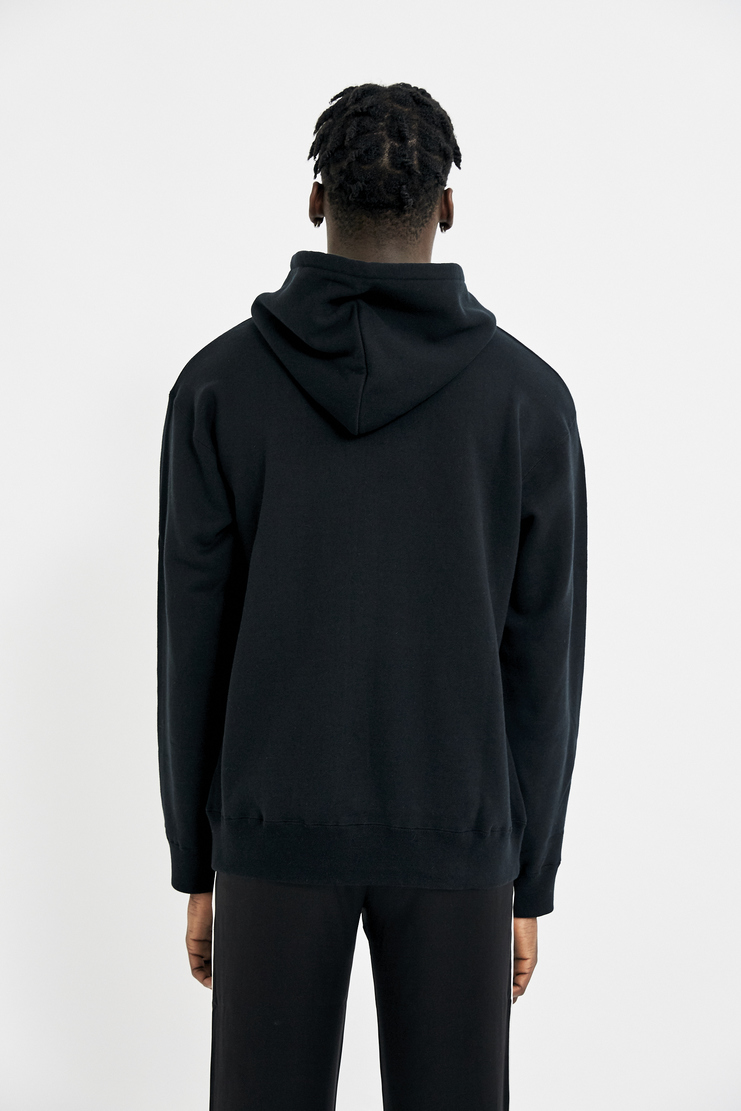 424 Black Embroidered Hoodie AW17 FW17 A/W 17 F/W 17 Jumper Tops Outerwear