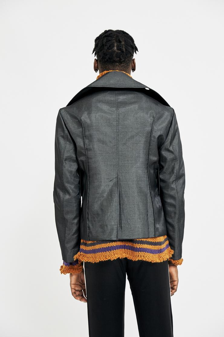 Ximon Lee Grey Mesh Jacket AW17 FW17 A/W 17 F/W 17 outerwear blazer