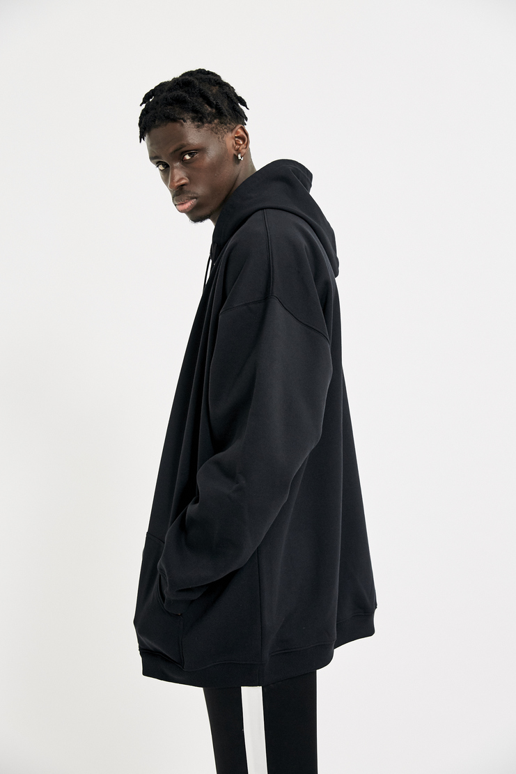 Alyx, Oversized Zipper Hoodie, A/W 17, Black, Cotton Hoodie, Menswear, New Arrivals