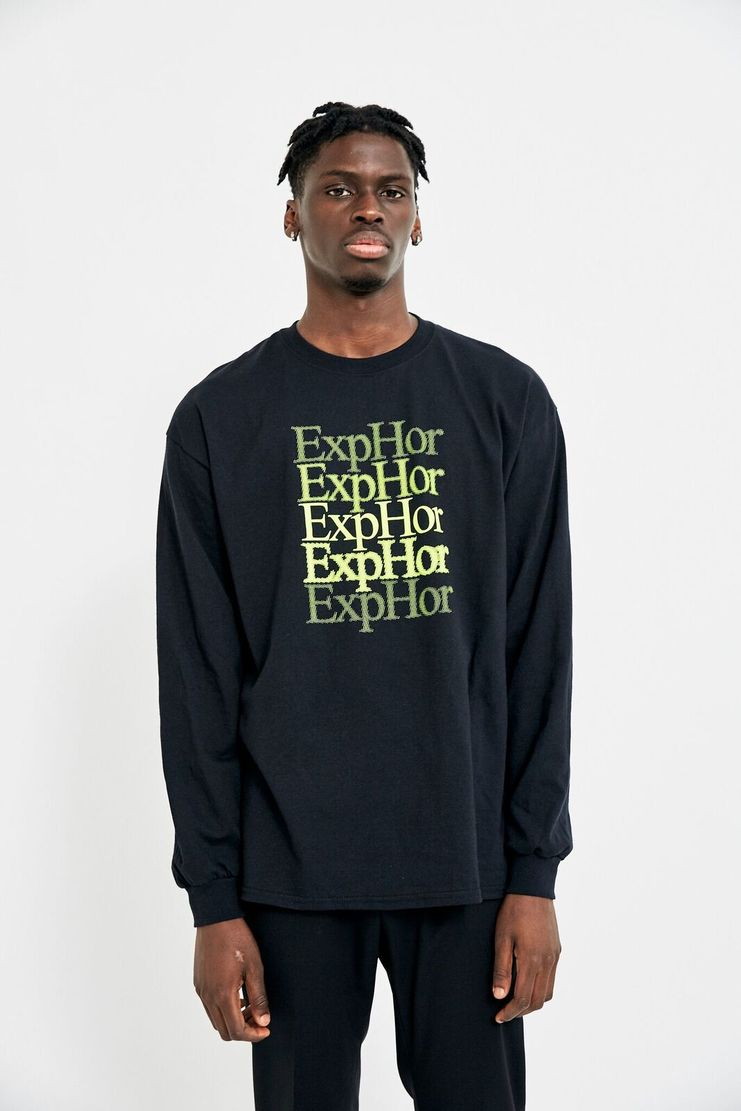 Expert Horror Black Long Sleeve Tee T-shirt Top Green A/W 17 F/W 17 AW17 FW17