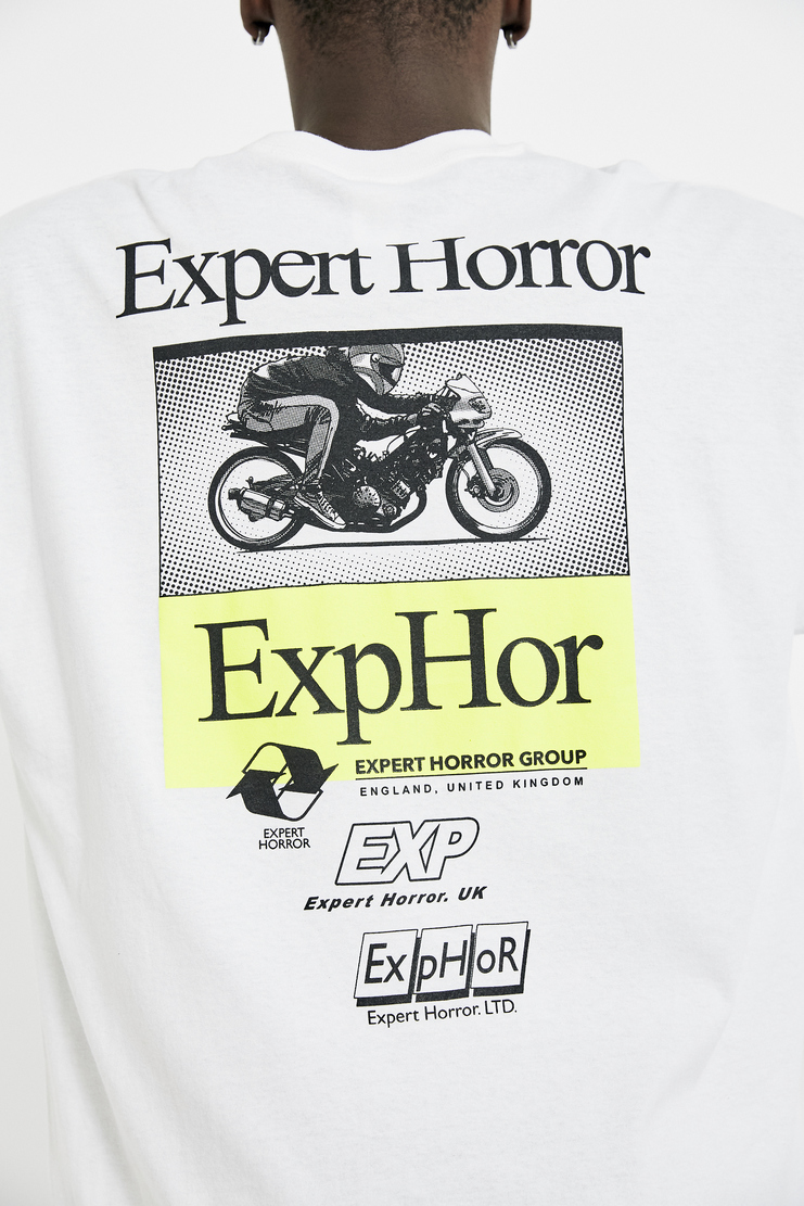 Expert Horror Core Race Long Sleeve Tee A/W 17 F/W 17 FW17 AW17 White Racing Print
