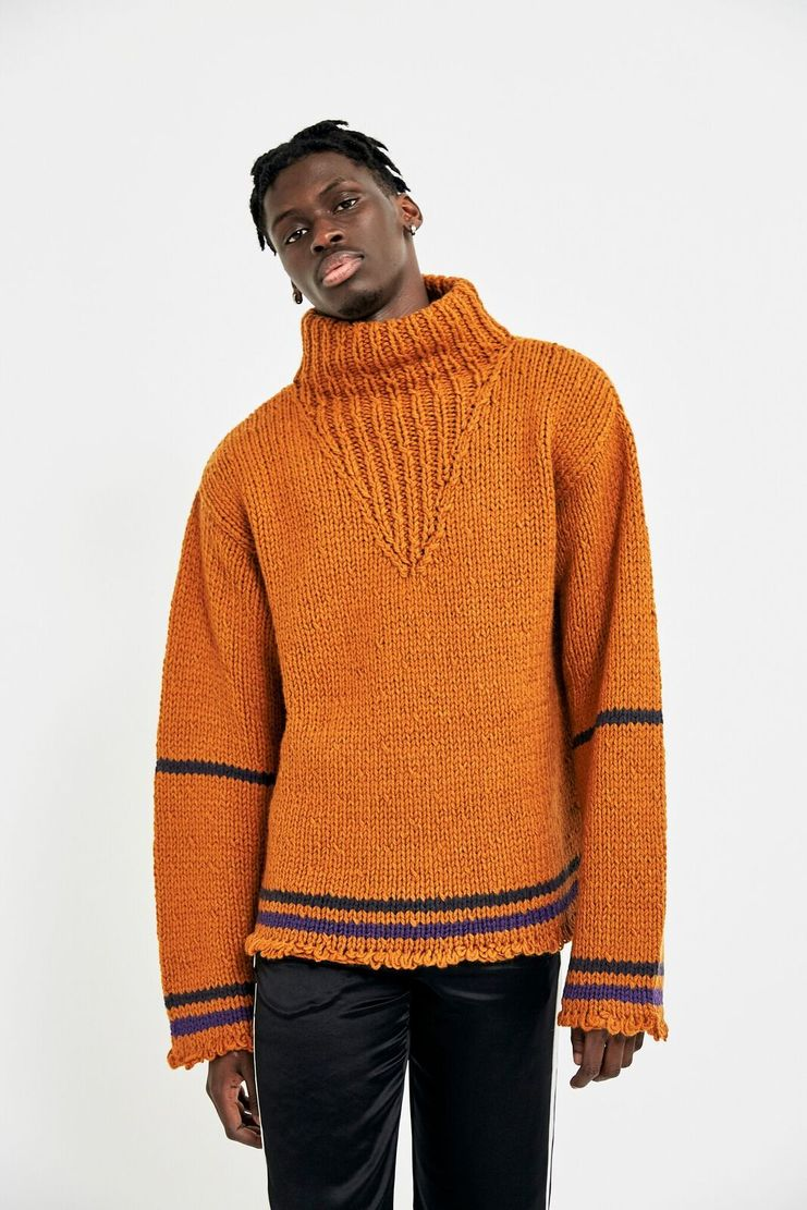 Maison Margiela Orange High Neck Sweater Jumper Winter A/W 17 AW17 FW17 F/W 17 Autumn