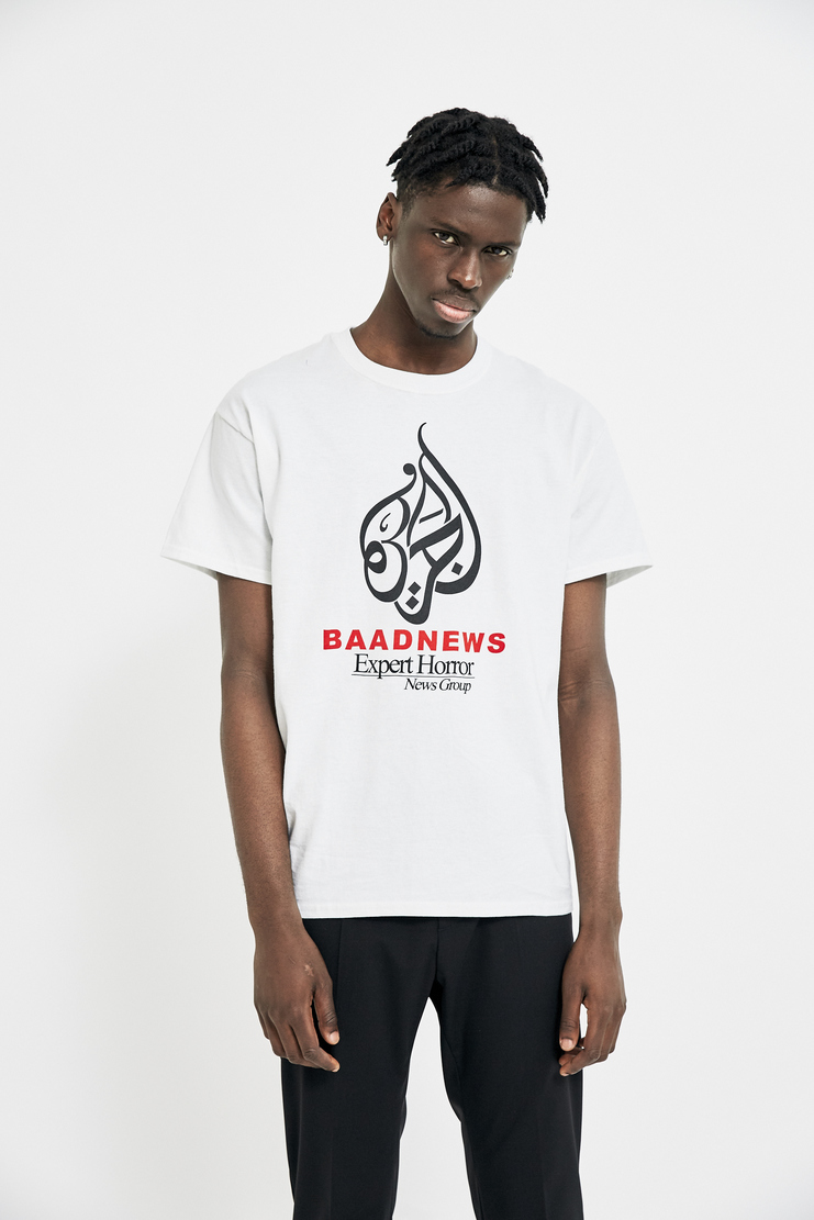 Expert Horror White 'BAADNEWS' T-Shirt