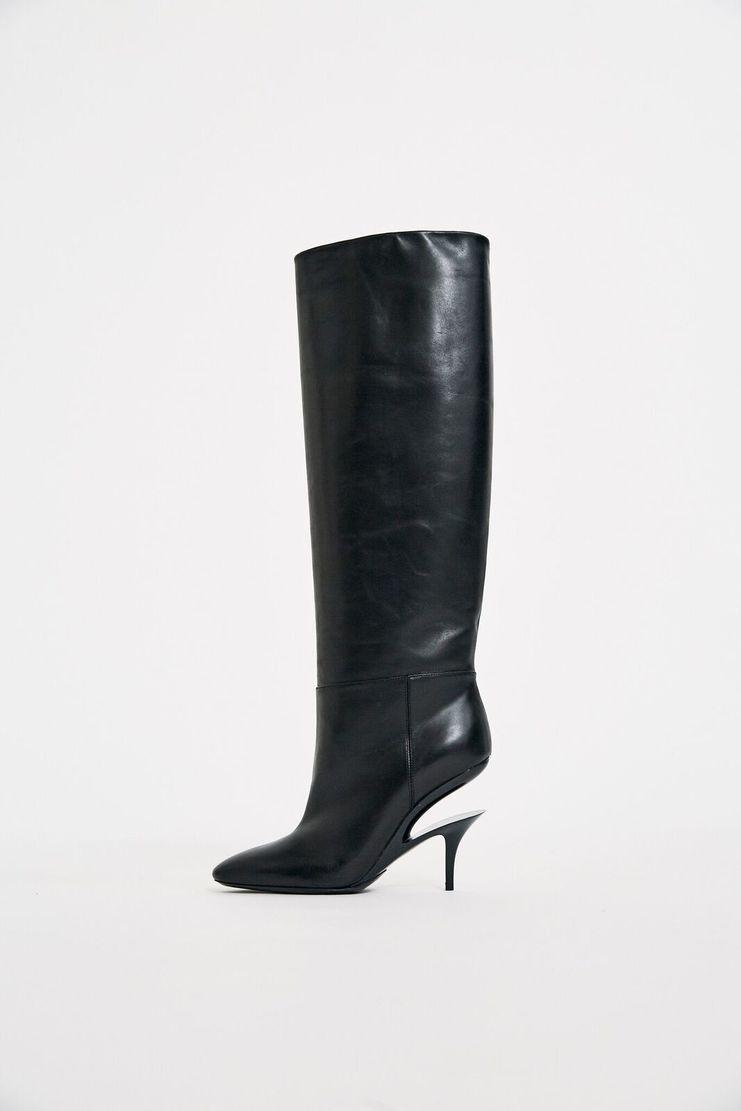 Maison Margiela Calfskin Boot AW17 FW17 A/W 17 F/W 17 knee high boots shoe heels Knee-High