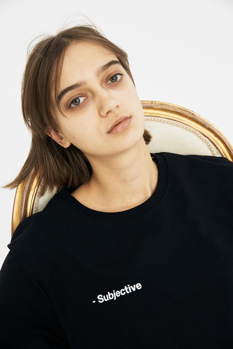 SHOWstudio Black 'Subjective' T-shirt A/W 17 AW17 F/W 17 FW17 Fair Trade Crew-neck Short Sleeve Vegan SS18 S/S 18