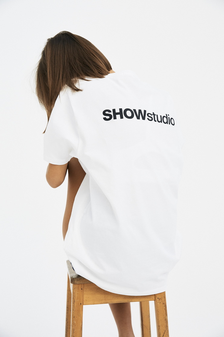 SHOWstudio White 'Subjective' T-shirt A/W 17 F/W 17 FW17 AW17 Fair Trade Vegan Crew-neck Top Tee