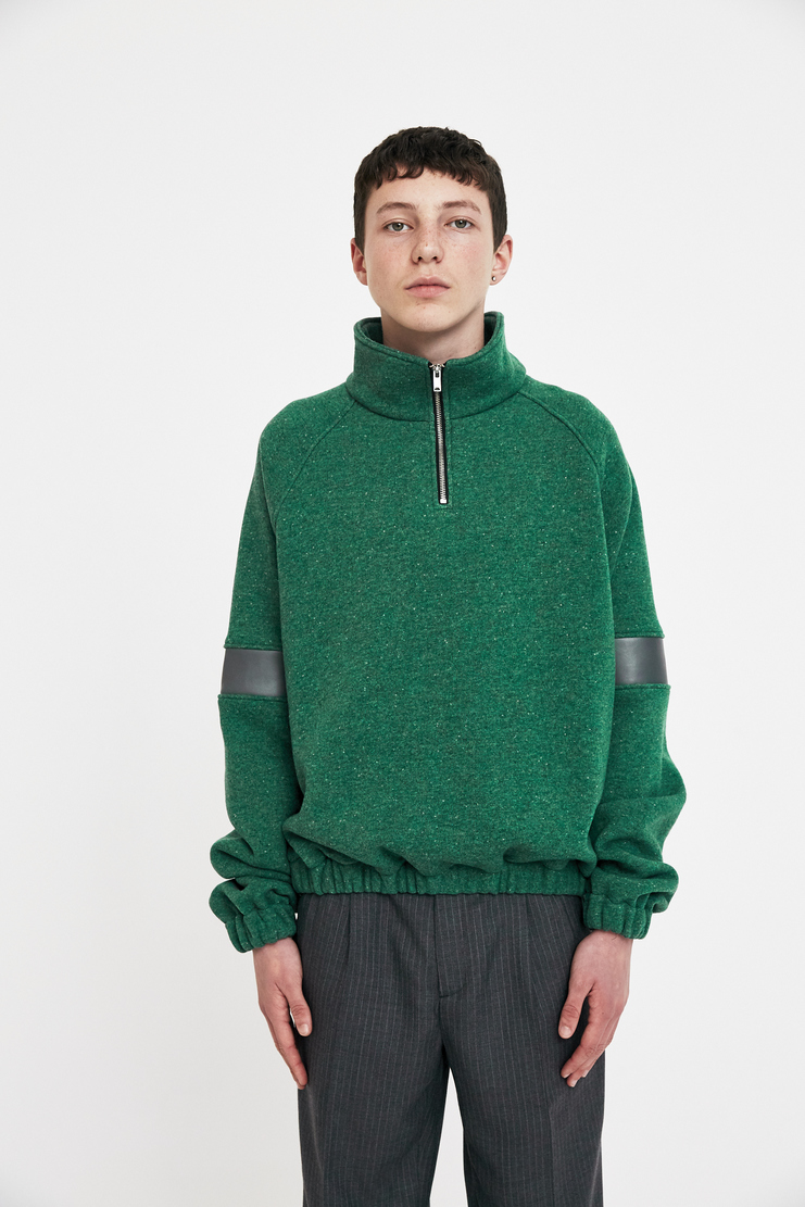 Gosha Rubchinskiy Green Fake Leather Pullover A/W 17 F/W 17 AW17 FW17