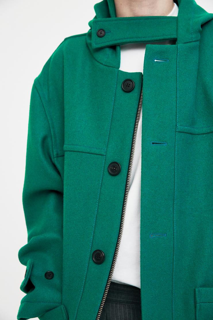 Gosha Rubchinskiy Wool Duffle Coat pea coat jacket woollen aw17 fw17 paris rubchinsky russian
