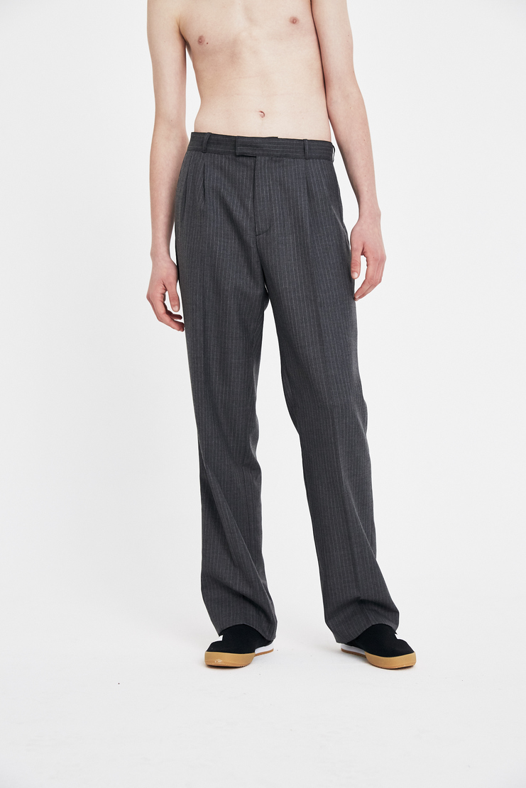 Gosha Rubchinskiy Suit Pant AW17 FW17 A/W 17 F/W 17 rubchinsky wool woollen corporate trousers grey dark charcoal
