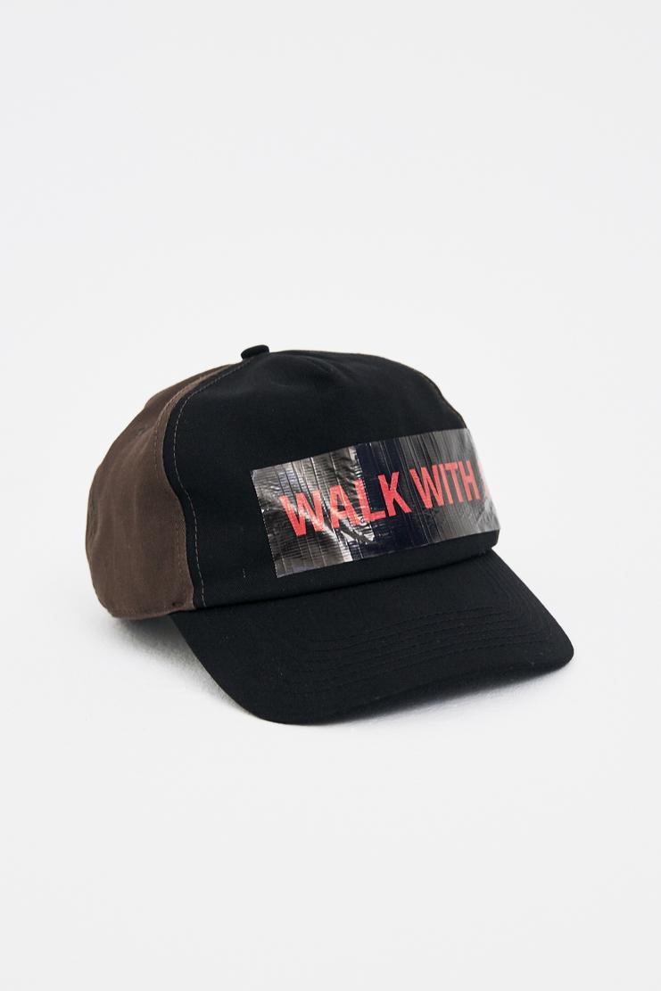 Raf Simons Blue Baseball Cap with Tape A/W 17 F/W 17 FW17 AW17 simon hat black walk with me tape