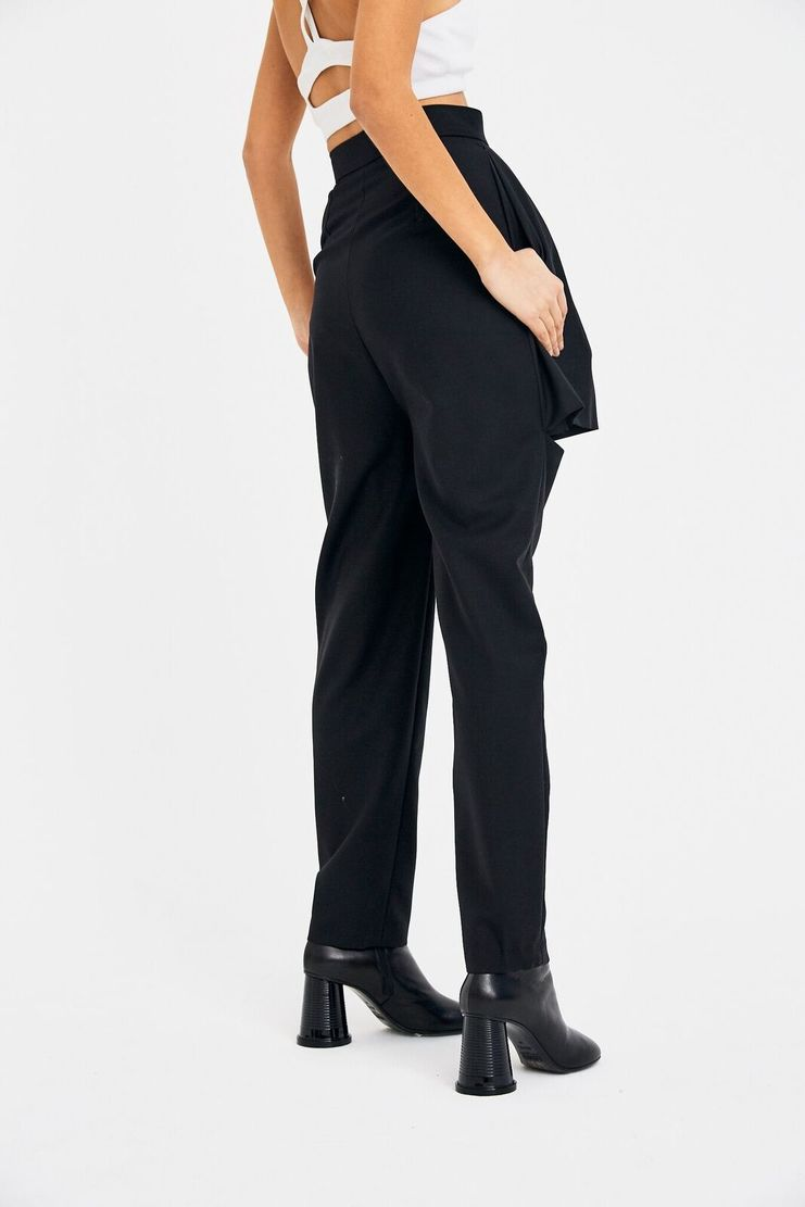 Marta Jakubowski Front Skirt Short Trouser AW17 A/W 17 Martha Jacobowski Trousers Black F/W 17 FW17 Bottoms Suit Skort