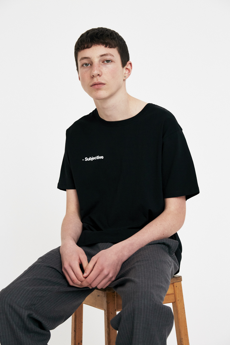 SHOWstudio Black 'Subjective' T-shirt A/W 17 AW17 F/W 17 FW17 Fair Trade Crew-neck Short Sleeve Vegan SS18 S/S 18