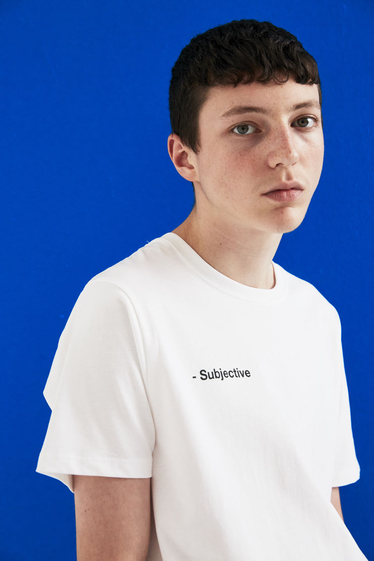 SHOWstudio white 'Subjective' T-shirt A/W 17 AW17 F/W 17 FW17 Fair Trade Crew-neck Short Sleeve Vegan SS18 S/S 18